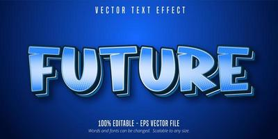 texte futur, effet de texte de style pop art