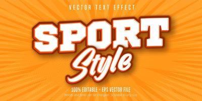 texte de style sport, effet de texte de style pop art