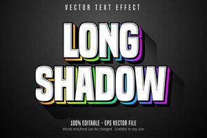 texte à longue ombre, effet de texte de style multicolore