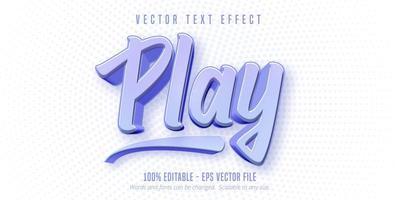 jouer du texte, effet de texte de style de jeu vecteur
