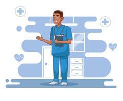 personnage de médecin chirurgien professionnel vecteur