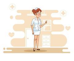 belle femme infirmière