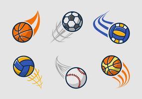 Pack logo de l'équipe Kickball vecteur