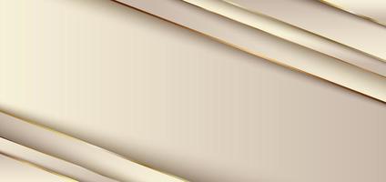 superpositions de couches inclinées avec des rayures dorées et des ombres vecteur