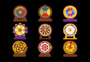 Jeu de roues à spirale vectorielle