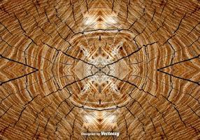 Contexte d'anneaux d'arbres réalistes vecteur