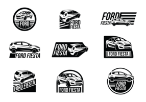 Étiquettes vectorielles Ford Fiesta vecteur