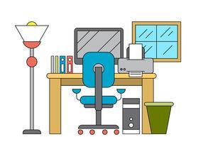 Illustration de bureau vectoriel
