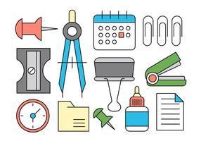 Fournitures de bureau icônes vectorielles vecteur