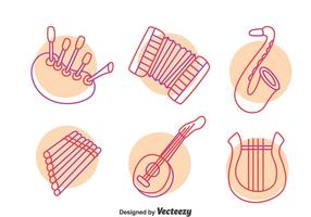 Vecteur d'instrument de musique dessiné à la main