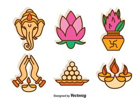 Ensemble de vecteur de culture de l'Inde