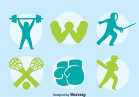 Vecteur silhouette icônes de sport
