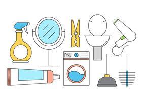 Icônes gratuites de nettoyage de vecteur