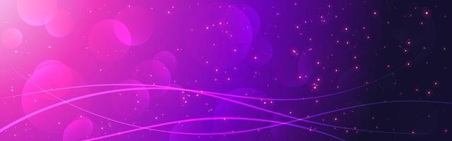 dégradé rose et violet avec bokeh magique vecteur