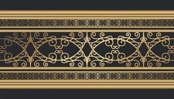 bordure décorative dorée vecteur