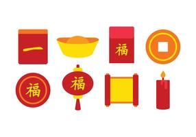 Ensemble d'icônes chinois gratuit