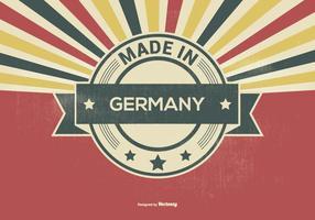Style rétro fait en Allemagne Illustration