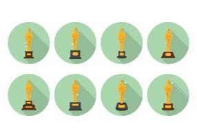 Vecteurs étincelants de statues Oscar vecteur
