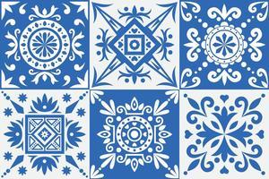 Motifs d'azulejo vecteur