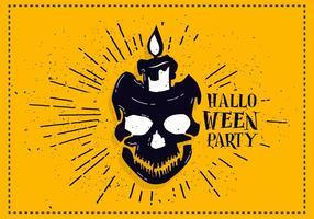 Vecteur de crâne Halloween gratuit