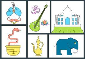 Icônes vectorielles indiennes gratuites vecteur