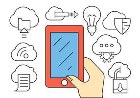 Icônes Business Business Cloud Computing vecteur