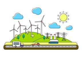 Énergie Illustration Vectorisée vecteur