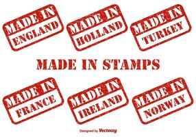 Made in Countries Vector Stempel