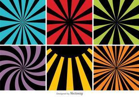 Ensemble de fond abstrait coloré vecteur
