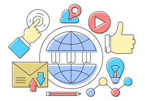 Icônes vectorielles gratuites des médias sociaux vecteur