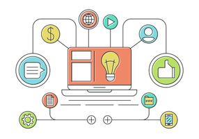 Smart tech vector icons