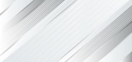 fond abstrait blanc, gris brillant et couches de papier vecteur