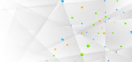 bannière technologie abstraite connecter concept reliant les lignes et les points vecteur