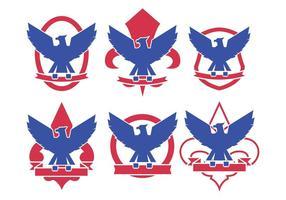 Vecteurs de logo d'eagle scout