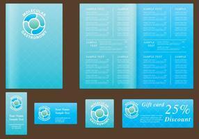 Modèles de menus bleus vecteur