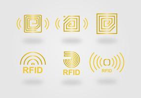 Ensemble vectoriel d'icônes RFID