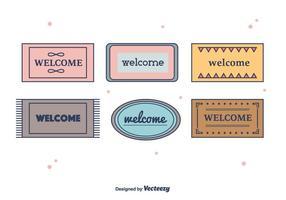 Vector de tapis de bienvenue