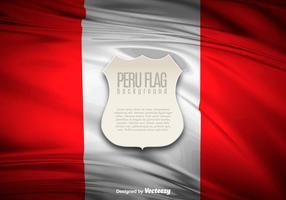 Bannière d'illustration de drapeau du Pérou vecteur
