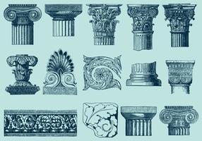 Architecture avec décor Acanthus vecteur
