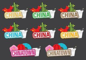 Titres de Chine et de Chinatown vecteur