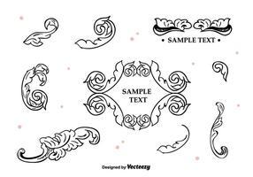 Cadres et bordures vectoriels vecteur
