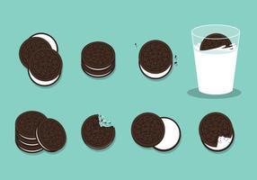 Vecteur gratuit de cookies Oreo