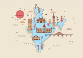 Vector de carte de Mumbai