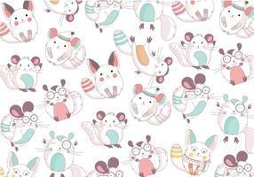 Chinchilla Cute Pattern Vector