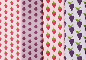 Modèles de fruits vectoriels