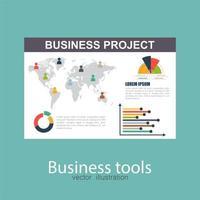 document de projet d'entreprise vecteur