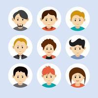 collection d'avatar de personnes. vecteur