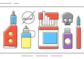Icônes gratuites de vecteur de drogue
