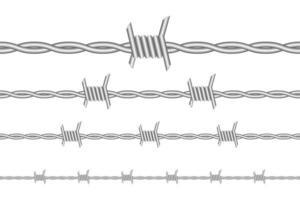 fil de fer barbelé isolé vecteur