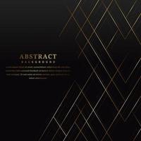 lignes dorées abstraites sur fond noir de style luxe vecteur